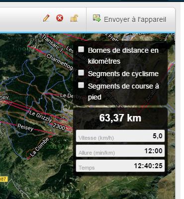 Importation d'un fichier GPX sur une montre GPS Garmin