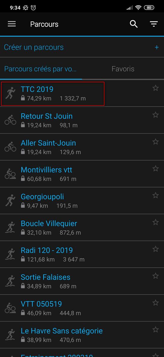 Importer un fichier GPX sur une montre GPS Garmin